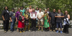 MNCFN Chief, Council and community members attend Torch Arrival Celebration