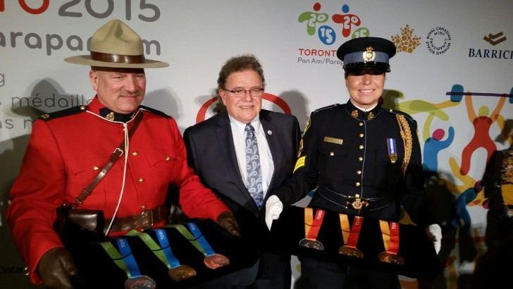 RCMP & Chief with medals